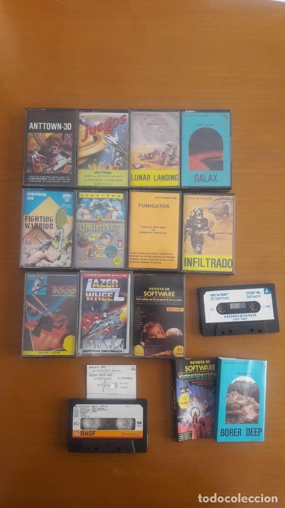 LOTE PACK 12 JUEGOS SPECTRUM Y OTRAS COSAS (Juguetes - Videojuegos y Consolas - Spectrum)