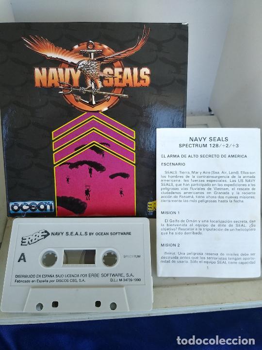 JUEGO DE SPECTRUM - NAVY SEALS - MUY RARO CAJA DE CARTON MUY BUEN ESTADO (Juguetes - Videojuegos y Consolas - Spectrum)