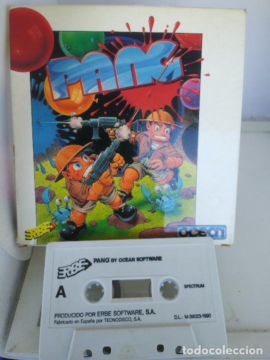 Videojuegos y Consolas: GAME FOR SPECTRUM PANG ERBE SPANISH VERSION OCEAN 1990 caja de carton - Foto 2 - 220676233