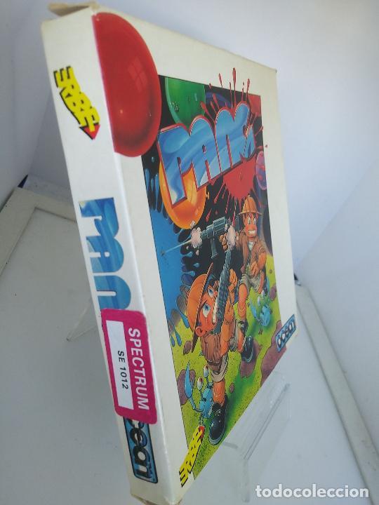 Videojuegos y Consolas: GAME FOR SPECTRUM PANG ERBE SPANISH VERSION OCEAN 1990 caja de carton - Foto 3 - 220676233