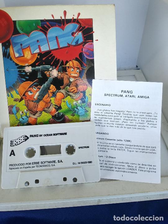GAME FOR SPECTRUM PANG ERBE SPANISH VERSION OCEAN 1990 CAJA DE CARTON (Juguetes - Videojuegos y Consolas - Spectrum)
