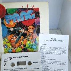Videojuegos y Consolas: GAME FOR SPECTRUM PANG ERBE SPANISH VERSION OCEAN 1990 CAJA DE CARTON. Lote 220676233