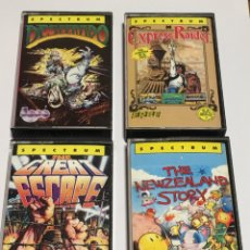 Videojuegos y Consolas: SPECTRUM- THE NEWZEALAND STORY - DESPERADO - EXPRESS RAIDER - THE GREAT ESCAPE. Lote 173105977
