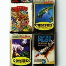 Videojuegos y Consolas: LOTE DE 4 JUEGOS VIDEOJUEGOS VIDEOCONSOLA CONSOLA ORDENADOR SPECTRUM RETRO VINTAGE AÑOS 80. Lote 222388998