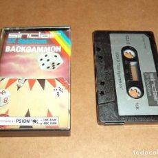 Videojuegos y Consolas: BACKGAMMON PARA SINCLAIR ZX SPECTRUM. Lote 222613712