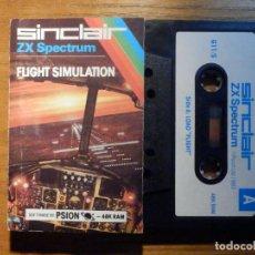Videojuegos y Consolas: JUEGO EN CASSETTE - ZX SPECTRUM - SINCLAIR - FLIGHT SIMULATION - PSION 48K RAM -. Lote 222943267