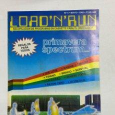 Videojuegos y Consolas: LOAD'N'RUN. SPECTRUM. Nº 4. MAYO 1985. PRIMAVERA SPECTRUM. VER. Lote 228405110