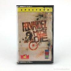Videojuegos y Consolas: FERNANDEZ MUST DIE / MCM ESPAÑA IMAGE WORKS 1988 RETRO COMMANDO HARMAN SINCLAIR ZX SPECTRUM CASSETTE. Lote 230461395