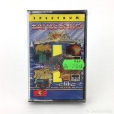 Videojuegos y Consolas: BATTLE SHIPS PRECINTADO MCM SOFTWARE ESPAÑA ELITE 1988 JUEGO REFLEXION SINCLAIR ZX SPECTRUM CASSETTE. Lote 230461605