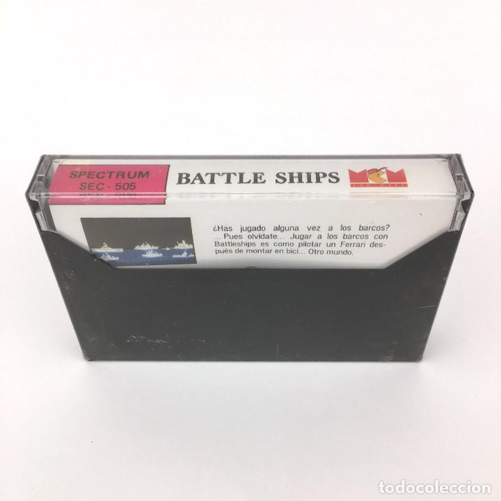Videojuegos y Consolas: BATTLE SHIPS Precintado MCM SOFTWARE ESPAÑA ELITE 1988 JUEGO REFLEXION SINCLAIR ZX SPECTRUM CASSETTE - Foto 2 - 230461605