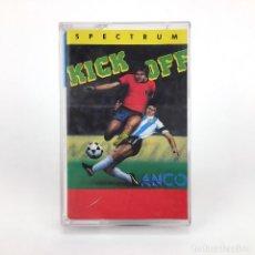 Videojuegos y Consolas: KICK OFF. SYSTEM 4 ESPAÑA ANCO SOFTWARE 1989 JUEGO FUTBOL RETRO SOCCER SINCLAIR ZX SPECTRUM CASSETTE. Lote 230796045