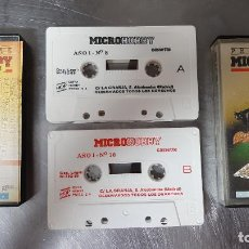 Videojuegos y Consolas: LOTE CASETE CASSETTE JUEGO PROGRAMAS MICRO HOBBY SINCLAIR SPECTRUM VIDEOJUEGO 10-8 AÑO I ORDENADOR. Lote 231525495
