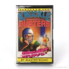 Videojuegos y Consolas: KNUCKLE BUSTERS / DRO SOFT ESPAÑA KROME STUDIOS MELBOURNE 1988 BEAT-EM-UP SINCLAIR SPECTRUM CASSETTE. Lote 231681155