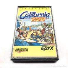 Videojuegos y Consolas: CALIFORNIA GAMES / ERBE LOMO BLANCO / EPYX 1986 SKATE SURF SKATEBOARD. SINCLAIR ZX SPECTRUM CASSETTE. Lote 231952605