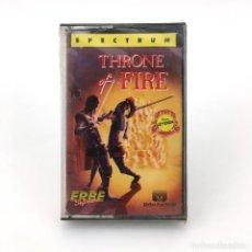 Videojuegos y Consolas: THRONE OF FIRE PRECINTADO. ERBE LOMO ROSA / MELBOURNE HOUSE 1987 JUEGO SINCLAIR ZX SPECTRUM CASSETTE. Lote 232082730