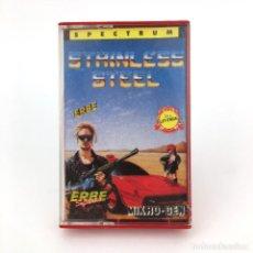 Videojuegos y Consolas: STAINLESS STEEL / ERBE LOMO ROSA SERIE LEYENDA / MIKRO-GEN 1986 JUEGO SINCLAIR ZX SPECTRUM CASSETTE. Lote 232082785