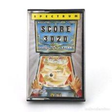 Videojuegos y Consolas: SCORE 3020 ERBE LOMO ROSA TOPO SOFT ESPAÑA 1989 PINBALL PETACO PIMBALL SINCLAIR ZX SPECTRUM CASSETTE. Lote 232082815
