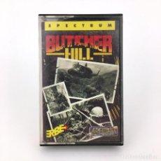 Videojuegos y Consolas: BUTCHER HILL ERBE LOMO ROSA GREMLIN 1989 REHENES PRISIONEROS DE GUERRA SINCLAIR ZX SPECTRUM CASSETTE. Lote 232085325