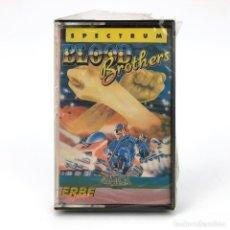 Videojuegos y Consolas: BLOOD BROTHERS PRECINTADO. ERBE LOMO ROSA GREMLIN GRAPHICS PLATAFORMAS SINCLAIR ZX SPECTRUM CASSETTE. Lote 232085410