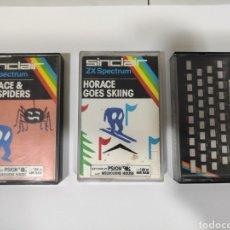 Videojuegos y Consolas: LOTE DE 3 VIDEOJUEGOS ZX SPECTRUM HORACE & THE SPIDERS, HORACE GOES SKIING Y HORIZONTES PSION CASSET. Lote 234594810