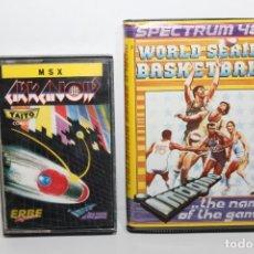 Videojuegos y Consolas: 2 JUEGOS SPECTRUM BASKETBALL Y ARKANOID TAITO. Lote 234945190