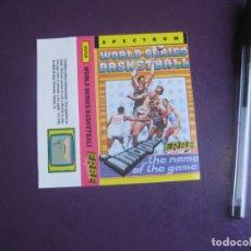 Videojuegos y Consolas: WORLD SERIES BASKETBALL - SPECTRUM - ERBE - SOLO CARATULA - NUEVA. Lote 235479705