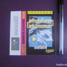 Videojuegos y Consolas: SHADOW SKIMMER - SPECTRUM - ERBE - SOLO CARATULA - NUEVA -. Lote 235481440