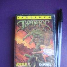 Videojuegos y Consolas: THANATOS - SPECTRUM - ERBE DURELL - VIDEOJUEGO VINTAGE - LEVE USO. Lote 235933305