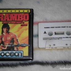 Videojuegos y Consolas: JUEGO SINCLAIR ZX SPECTRUM 48K - RAMBO (OCEAN, ERBE) EDICIÓN EN ESTUCHE.. Lote 236741555