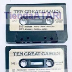 Videojuegos y Consolas: TEN GREAT GAMES [GREMLIN GRAPHICS LTD] [1988] [ZX SPECTRUM] [SOLO CASSETTES]. Lote 245469290