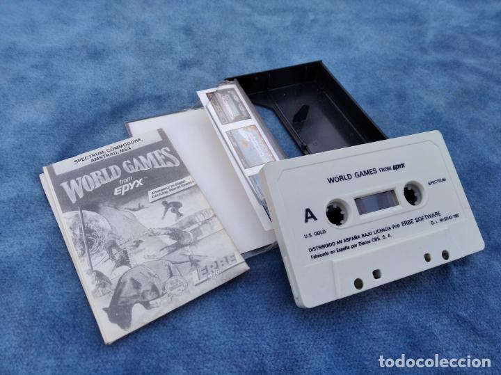 Videojuegos y Consolas: WORLD GAMES - ZX SPECTRUM - VIDEOJUEGO ---------------------3XY - Foto 3 - 251300950