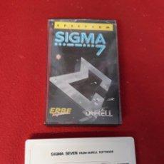 Videojuegos y Consolas: JUEGO SPECTRUM SIGMA SEVEN. Lote 255525300