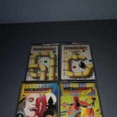 Videojuegos y Consolas: T1C79 LOTE DE 4 CASSETTES MICROHOBBY. SINCLAIR SPECTRUM. Lote 256901805