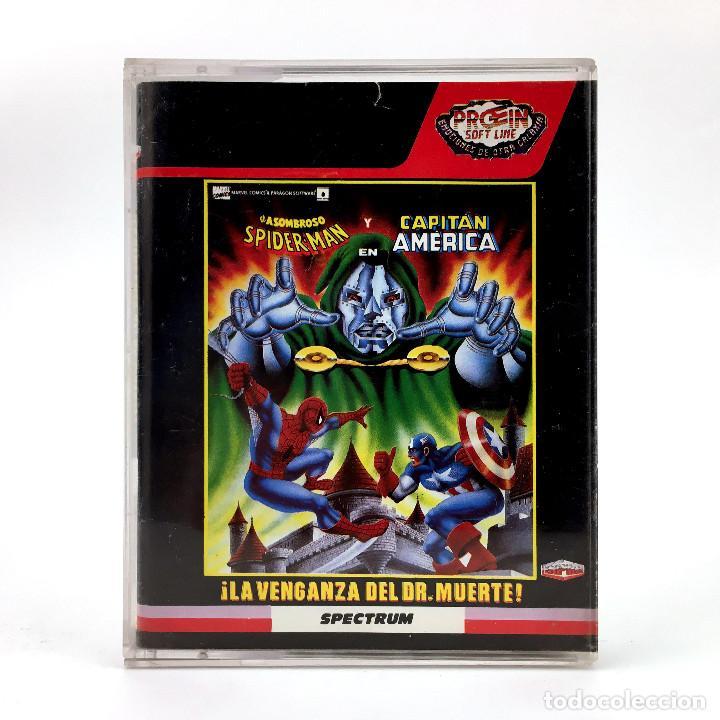 LA VENGANZA DEL DR. MUERTE * SPIDERMAN Y CAPITAN AMERICA PROEIN MARVEL SINCLAIR ZX SPECTRUM CASSETTE (Juguetes - Videojuegos y Consolas - Spectrum)