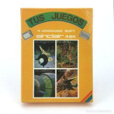 Videojuegos y Consolas: SPACE WAR BASKET BEAR F18 VUELO CONVOY ESPACIAL TUS JUEGOS MONSER 4 SINCLAIR ZX PECTRUM CASSETTE MIA. Lote 257659755