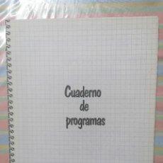 Videojuegos y Consolas: CUADERNO DE PROGRAMAS LENGUAJE BASIC PARA ZX SPECTRUM. Lote 260856780