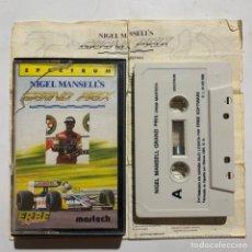 Videojuegos y Consolas: JUEGO DE ORDENADOR SPECTRUM NIGEL MANSELL'S GRAND PRIX. Lote 261113710