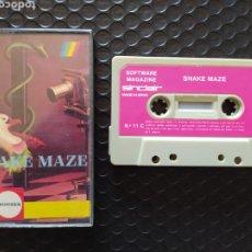 """Videojuegos y Consolas: JUEGO """"SNAKE MAZE"""" ZX SPECTRUM CASSETE,SOFTWARE MAGAZINE, MONSER-MUY BUEN ESTADO. Lote 261781230"""