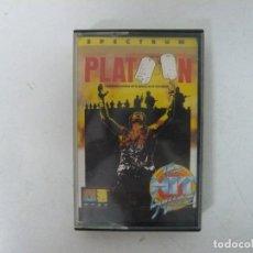 Videojuegos y Consolas: PLATOON / JEWELL CASE / SINCLAIR ZX SPECTRUM / RETRO VINTAGE / CASSETTE - CINTA. Lote 261807040