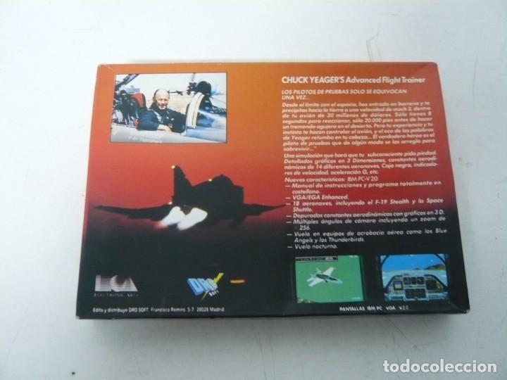 Videojuegos y Consolas: CHUCKS YEAGER AFT / CAJA CARTÓN / SINCLAIR ZX SPECTRUM / RETRO VINTAGE / CASSETTE - CINTA - Foto 2 - 263136330