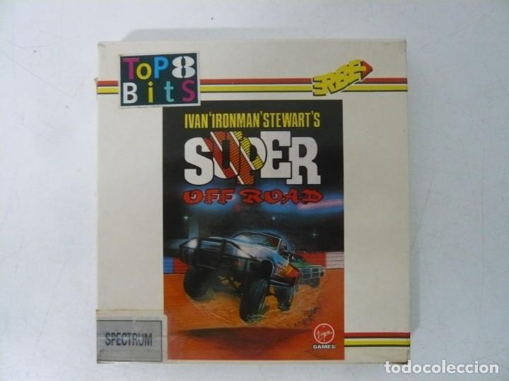 IRONMAN, SUPER OFF ROAD / CAJA CARTÓN / SINCLAIR ZX SPECTRUM / RETRO VINTAGE / CASSETTE - CINTA (Juguetes - Videojuegos y Consolas - Spectrum)