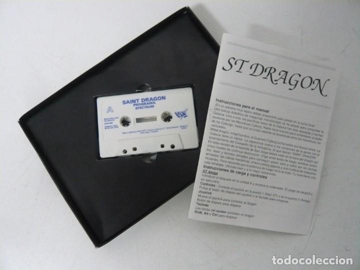 Videojuegos y Consolas: ST DRAGON, SAINT DRAGON / CAJA CARTÓN / SINCLAIR ZX SPECTRUM / RETRO VINTAGE / CASSETTE - CINTA - Foto 3 - 263137205
