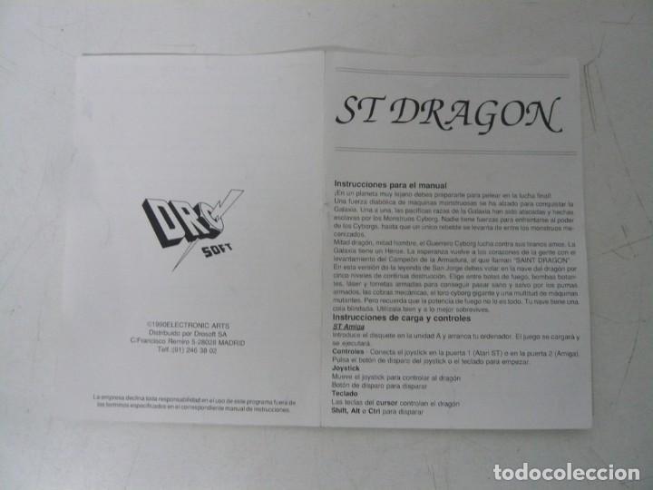 Videojuegos y Consolas: ST DRAGON, SAINT DRAGON / CAJA CARTÓN / SINCLAIR ZX SPECTRUM / RETRO VINTAGE / CASSETTE - CINTA - Foto 4 - 263137205