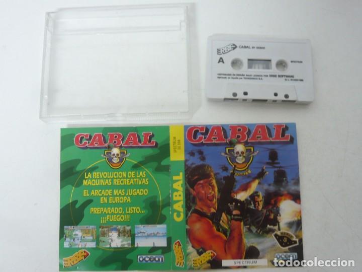 Videojuegos y Consolas: CABAL / JEWELL CASE / SINCLAIR ZX SPECTRUM / RETRO VINTAGE / CASSETTE - CINTA - Foto 3 - 263137800