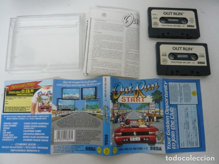 Videojuegos y Consolas: OUT RUN, SPANIS EDITION / JEWELL CASE / SINCLAIR ZX SPECTRUM / RETRO VINTAGE / CASSETTE - CINTA - Foto 3 - 263138145