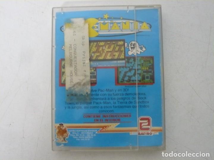 Videojuegos y Consolas: PAC-MANIA, PACMANIA / JEWELL CASE / SINCLAIR ZX SPECTRUM / RETRO VINTAGE / CASSETTE - CINTA - Foto 3 - 263138335