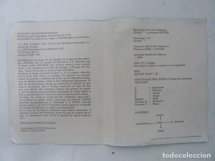 Videojuegos y Consolas: PAC-MANIA, PACMANIA / JEWELL CASE / SINCLAIR ZX SPECTRUM / RETRO VINTAGE / CASSETTE - CINTA - Foto 5 - 263138335