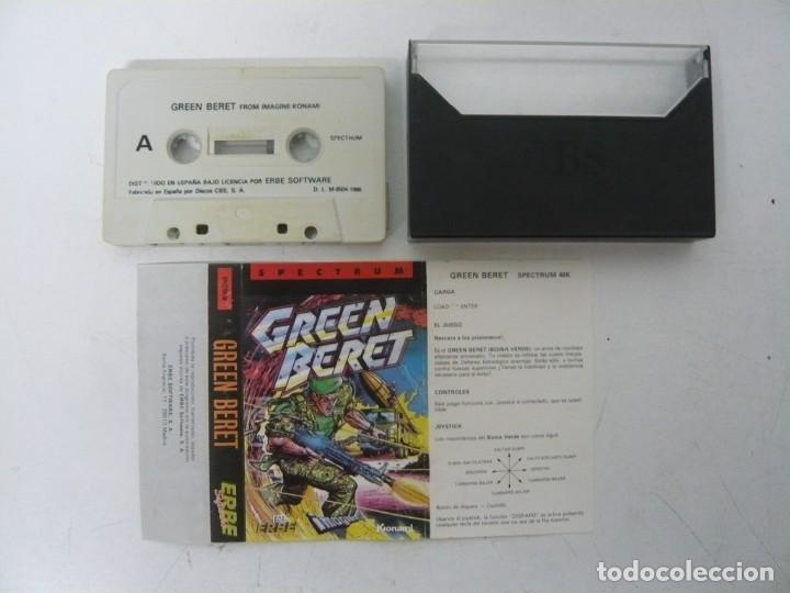 Videojuegos y Consolas: GREEN BERET / JEWELL CASE / SINCLAIR ZX SPECTRUM / RETRO VINTAGE / CASSETTE - CINTA - Foto 2 - 263140735