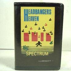 Videojuegos y Consolas: HEADBANGERS HEAVEN - ESTUCHE PLASTICO - SPECTRUM 48K -LLAMASOFT 1983 - VIDEOJUEGO -VIDEO JUEGO. Lote 265144244