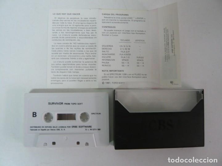 Videojuegos y Consolas: SURVIVOR de TOPO SOFT / SPECTRUM / SINCLAIR ZX SPECTRUM / RETRO VINTAGE / CASSETTE - Foto 3 - 268732584
